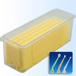 Microbrush - Fine (Yellow) 100pc Tray